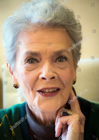 "Betty Halbreich Personal shopper Betty Halbreich, 86, poses at her office desk at Bergdorf Goodman in New York. She lays out her life in a new book, ""I'll Drink to That: A Life in Style with a Twist,"" co-written by Rebecca Paley"