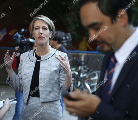 Zephyr Teachout, Tim Wu Zephyr Teachout, a Democratic gubernatorial candidate, left, speaks to the media while Tim Wu, a Democratic lieutenant gubernatorial candidate, waits to vote in New York, . New York Gov. Andrew Cuomo faces a challenge in his bid for a second term in the Democratic primary as he seeks to dispatch liberal activist Teachout