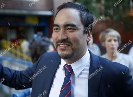 Stock Image of Tim Wu Tim Wu, a Democratic lieutenant gubernatorial candidate, speaks to reporters before voting in New York, . New York Gov. Andrew Cuomo faces a challenge in his bid for a second term in the Democratic primary as he seeks to dispatch liberal activist Zephyr Teachout