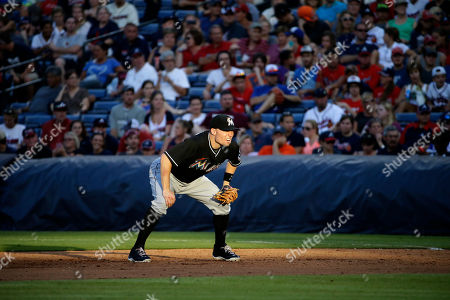 Jeff Baker Miami Marlins first baseman Jeff Baker plays in the eighth inning of a baseball game against the Atlanta Braves, in Atlanta