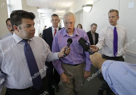 Stock Photo of Chuck Cox Charles Cox, center, the parent of missing Utah mother Susan Powell, speaks with reporters after leaving a courtroom in Salt Lake City. A Utah judge,ruled with the parents of missing mother Susan Powell, ruling that her father was within his bounds to cut out Josh Powell's mother and sister out from a trust that has $2 million in life-insurance proceeds