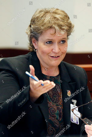 Stock Picture of Leslie Lee State Public Defender agency director Leslie Lee responds to a lawmaker's question during her presentation of the agency's budget requests for the state fiscal year 2016 at a hearing, before the Joint Legislative Budget Committee in Jackson, Miss