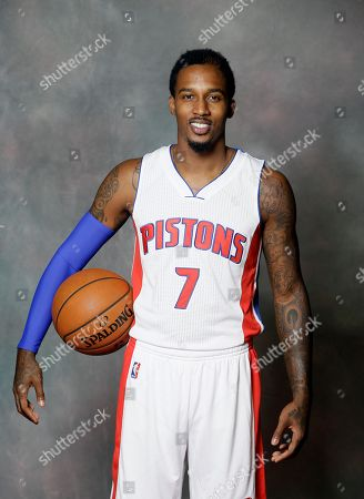 Brandon Jennings In a photo, Detroit Pistons guard Brandon Jennings is shown during media day at the team's basketball training facility in Auburn Hills, Mich