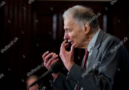 Stock Picture of Ralph Nader Consumer advocate Ralph Nader, speaks at the National Press Club, in Washington