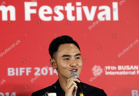 """Stock Photo of Ethan Juan Taiwanese actor Ethan Juan speaks during a press conference for an opening movie at the Busan International Film Festival, """"Paradise in Service"""" in Busan, South Korea"""