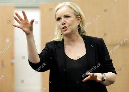 """Susan Stroman Director and choreographer Susan Stroman speaks to the media during a dress rehearsal for the musical production """"Little Dancer,"""" in New York. The $7 million Kennedy Center musical opens Saturday, Oct. 25, for previews and runs through Nov. 20, in Washington"""