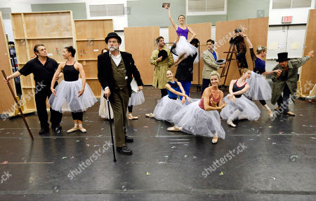 "Boyd Gaines Boyd Gaines, third from left, joins other performers during a dress rehearsal for the musical production ""Little Dancer,"" in New York. The $7 million Kennedy Center musical opens Saturday, Oct. 25, for previews and runs through Nov. 20, in Washington"