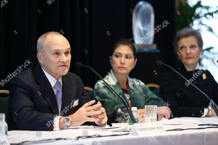 Raymond Kelly, Jeanette Cueva, Loretta Preska Former New York City Police Commissioner Raymond Kelly, left, speaks to reporters while Jeanette Cueva, center, and U.S. District Judge Loretta Preska listen during a news conference in New York, . The news conference was to announce a new program intended to provide reconciliation and compensation for victims of sexual abuse by clergy; Kelly, Cueva and Preska are the oversight committee