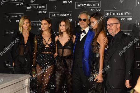 Anja Rubik, Irina Shayk, Barbara Palvin Andrea Bocelli, Joan Smalls, Sandro Veronesi
