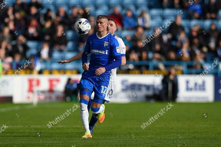 Gillingham defender Paul Konchesky (12) during the EFL Sky Bet League 1 match between Gillingham and Oldham Athletic at the MEMS Priestfield Stadium, Gillingham