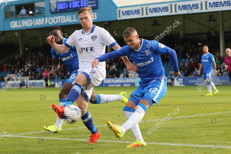 Gillingham's Paul Konchesky kicks the ball upfield during Gillingham vs Oldham Athletic, Sky Bet EFL League 1 Football at the MEMS Priestfield Stadium on 8th October 2016