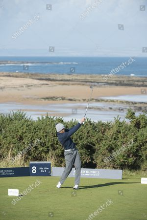 Dave Farrell on 8th tee at Kingsbarns
