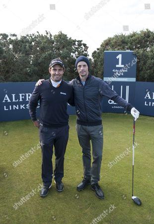 Edoardo Molinari and Matthew Goode at Kingsbarns