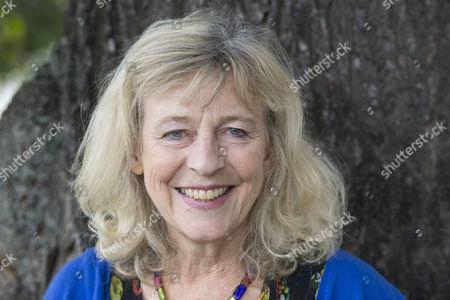 Stock Image of Best selling author Deborah Moggach poses before her talk at the Cheltenham Literature Festival.