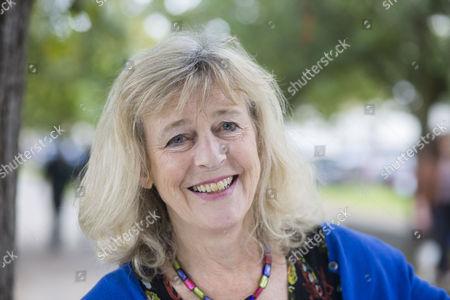 Best selling author Deborah Moggach poses before her talk at the Cheltenham Literature Festival.