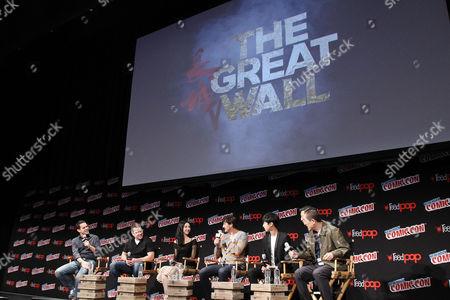 """Dave Carter, Matt Damon, Jing Tian, Pedro Pascal, Wang Junkai, Zhang """"Zym"""" Yimou (Director)"""