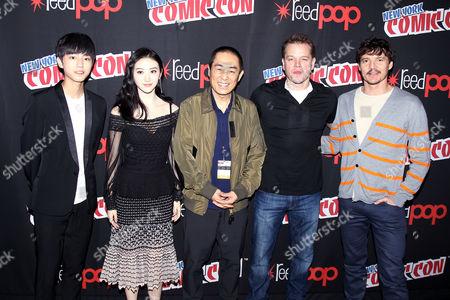 Wang Junkai, Jing Tian, Zhang Yimou (Director), Matt Damon, Pedro Pascal