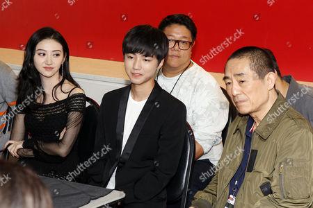 Stock Picture of Jing Tian, Wang Junkai Zhang Yimou (Director)