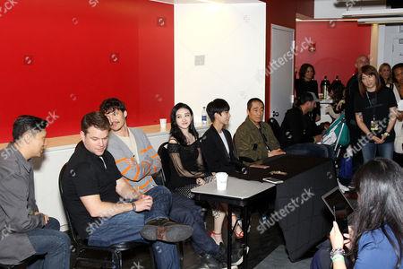 Stock Photo of Matt Damon, Pedro Pascal, Jing Tian, Wang Junkai, Zhang Yimou (Director)