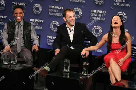 Jon Michael Hill, Jonny Lee Miller and Lucy Liu