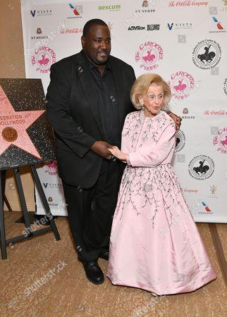 Quinton Aaron and Barbara Davis