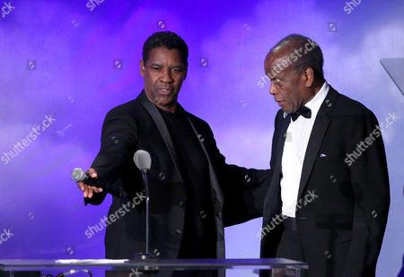 Denzel Washington and Sidney Poitier