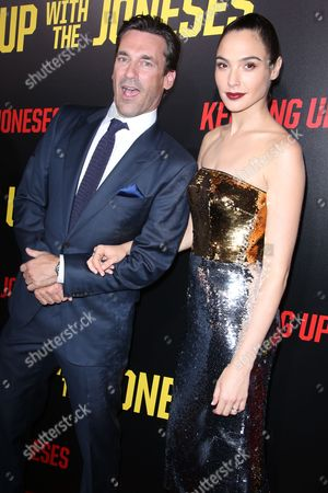 John Hamm and Gal Gadot