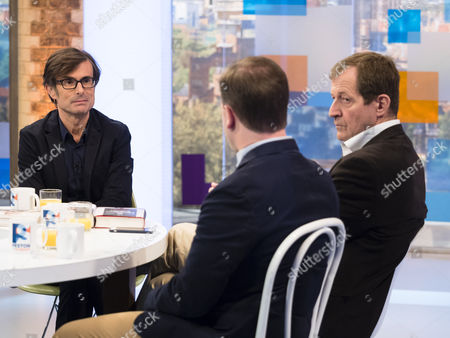 Robert Peston witth Alastair Campbell and Sir Craig Oliver