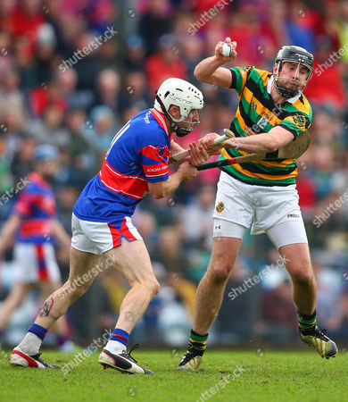 Erins Own vs Glen Rovers. Erins Own's Colm Coakley and David Cunningham of Glen Rovers