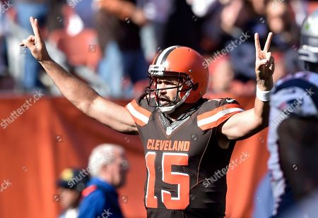 Charlie Whitehurst Cleveland Browns quarterback Charlie Whitehurst (15) celebrates a touchdown catch against the New England Patriots in the second half of an NFL football game, in Cleveland