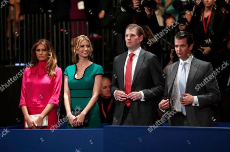 Melania Trump, Ivanka Trump, Eric Trump, Donald Trump, Jr Melania Trump, Ivanka Trump, Eric Trump and Donald Trump, Jr. arrive as they wait for the second presidential debate between Republican presidential nominee Donald Trump and Democratic presidential nominee Hillary Clinton at Washington University in St. Louis