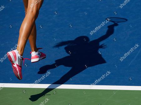 Daniela Hantuchova Daniela Hantuchova, of Slovakia, serves against Romina Oprandi, of Swizterland, during the opening round of the 2014 U.S. Open tennis tournament, in New York