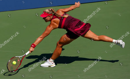 Angelique Kerber Angelique Kerber, of Germany, returns a shot against Ksenia Pervak, of Russia, during the opening round of the 2014 U.S. Open tennis tournament, in New York