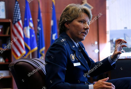 """Michelle Johnson U.S. Air Force Academy Superintendent Lt. Gen. Michelle Johnson speaks during an interview with The Associated Press, at the Air Force Academy campus, near Colorado Springs, Colo., . Air Force Academy leaders are asking coaches to take a bigger role in preventing sexual assaults by talking with athletes about the issue. Commanders also said Wednesday they expect an upcoming review of the athletic department to show whether it has a """"negative culture,"""" a term the service often uses to describe an atmosphere conducive to sexual abuse"""