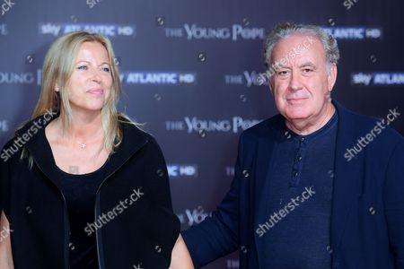 Stock Photo of Michele Santoro and wife Sanja Podgajski