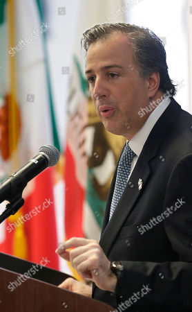 Jose Antonio Meade Kuribrena Mexican Secretary of Foreign Affairs Jose Antonio Meade Kuribrena, speaks at a luncheon held by the California Chamber of Commerce, in Sacramento, Calif