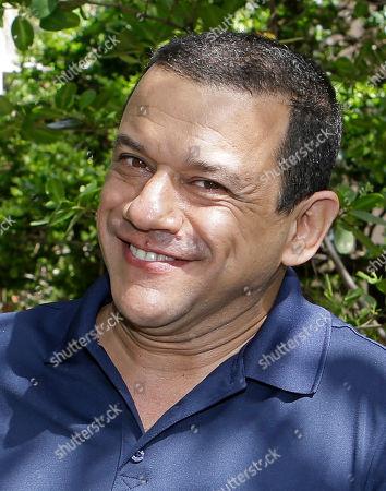 "Stock Photo of Emilio Lovera Venezuelan comedian Emilio Lovera poses for a photo in Aventura, Florida. The popular Venezuelan comedian, whose TV shows have been canceled in his native Venezuela, is in the U.S. to present his theatrical show ""La Piñata Latinoamericana"