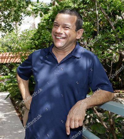 "Stock Picture of Emilio Lovera Venezuelan comedian Emilio Lovera poses for a photo in Aventura, Florida. The popular Venezuelan comedian, whose TV shows have been canceled in his native Venezuela, is in the U.S. to present his theatrical show ""La Piñata Latinoamericana"