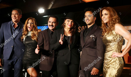 """Boris Izaquirre, Chiquibaby, Mario Quintero Lara, Olga Tanon, Luis Fonzi Lucero From left, Boris Izaquirre, Chiquibaby, Mario Quintero Lara, Olga Tanon, Luis Fonzi and Lucero, judges and host for a new Spanish language reality show, pose for photos after a press in Miami Beach, Fla. The new Telemundo reality competition show Yo Soy El Artista (translation: """"I Am the Artist""""), is scheduled to debut Sept. 14. The program will include an international pool of 100 social-media influencers who will vote on which contestants will sing, dance and show their star quality and showmanship. The 13-week competition will eventually crown a winner as the ultimate """"artist"""