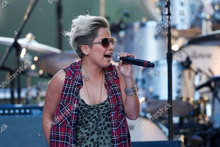 Stock Image of Vicci Martinez Vicci Martinez performs during an Independence Day celebration, in Philadelphia