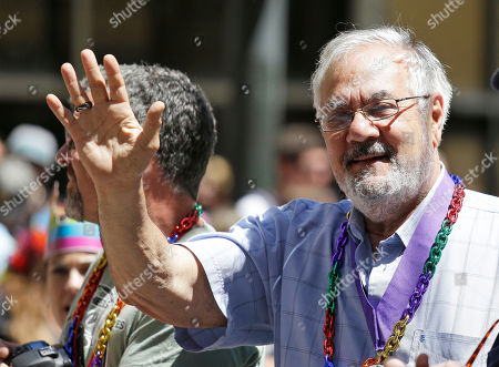 Barney Frank, James Ready Former congressman Barney Frank, right, waves while riding with his husband James Ready, left, during the 44th annual San Francisco Gay Pride parade, in San Francisco. The lesbian, gay, bisexual, and transgender celebration and parade is one of the largest LGBT gatherings in the nation
