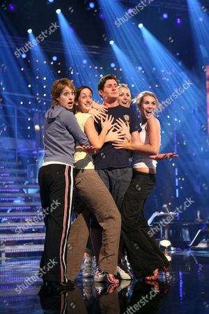 Four of the last five hopefuls, from left Connie Fisher, Helena Blackman, Aoife Mulholland, Siobhan Dillon, rehearsing for the program . The show on BBC television is a knockout competition for Andrew Lloyd Webber to find a new star to play Maria von Trapp in a forthcoming stage musical. Connie went on to win.
