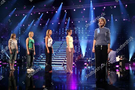 "The last five hopefuls, from left Abi Finley, Aoife Mulholland, Siobhan Dillon, Helena Blackman and Connie Fisher, (who went on to win the competition) rehearsing ""So long, farewell, auf Wiedersehen, goodbye"". The show on BBC television is a knockout competition for Andrew Lloyd Webber to find a new star to play Maria von Trapp in a forthcoming stage musical. Connie went on to win the competition."