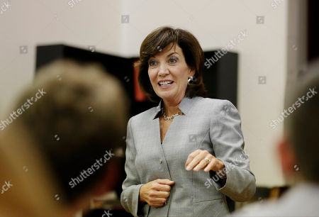 Kathy Hochul New York state Lt. Gov. candidate Kathy Hochul speaks to an audience while attending the New Kings Democrats Meeting in the Brooklyn borough of New York. Hochul is facing a primary challenge from Columbia University law professor Tim Wu