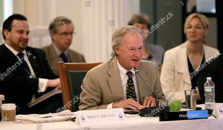 Gov. Lincoln Chafee D-R.I., speaks at the New England Governors and eastern Canadian Premiers 38th annual conference, in Bretton Woods, N.H. (AP Photo/Jim Cole), Monday, July 14, 2014 in Bretton Woods, N.H. Energy and economic collaboration were the main topics at Sunday and Monday's conference. Eastern Canada is rich in hydropower while New England markets are eager to shore up supply and control some of the nation's highest energy costs