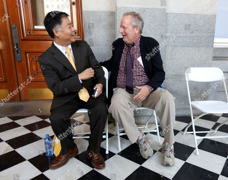 Ted Lieu, Daniel Stern State Sen. Ted Lieu, D-Torrance, jokes with actor Daniel Stern during rally calling for the passage of a measure to expand and extend a Hollywood tax credit designed to keep film and television production in California, at the Capitol, in Sacramento, Calif. If approved by the legislature and signed by the governor, AB1839 would extend the tax credit by five years and expand it to cover big-budget productions costing more than $75 million