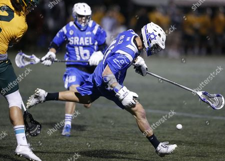 Noah Miller Israel's Noah Miller chases a lose ball in a semi-final game against Australia in the Lacrosse World Championships, in Commerce City, Colo., . Australia won 9-8