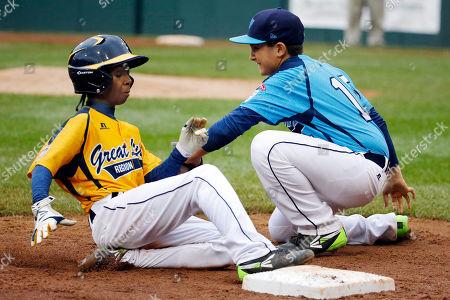 Editorial image of LLWS-Chicago-Homeless Player Baseball, South Williamsport, USA
