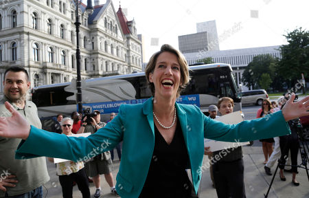 Zephyr Teachout Zephyr Teachout, who is opposing New York Gov. Andrew Cuomo in a Democratic primary, arrives at the State Education Building for a campaign event, in Albany, N.Y. The New York Times has endorsed Teachout's running mate Tim Wu for lieutenant governor over Cuomo's running mate Kathy Hochul