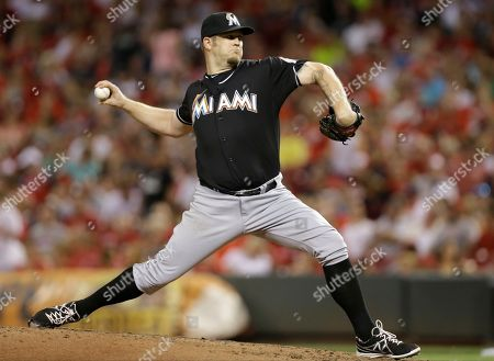 Brad Penny Miami Marlins starting pitcher Brad Penny throws against the Cincinnati Reds in the fourth inning of a baseball game, in Cincinnati